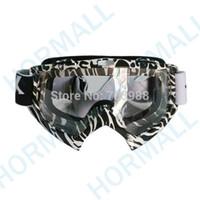 Wholesale Googles Glasses - Black-white strip clear lens goggles glasses goggles cycling ski eyewear motorcycle goggles motocross glasses cycling googles