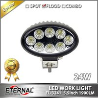 Wholesale Agriculture Led Lighting - 5pr lot--off road ATV powersports high power 24W oval agriculture vehicles truck tractor harvester led work light