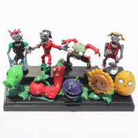 Wholesale Plants Zombies Figures Pvc - Plants vs Zombies PVZ Collection Figures Plants Toys Doll Plant figure PVC Toy Retail Free shipping