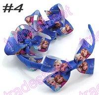 Wholesale Minions Ribbon - free shipping 50set 3'' boutique hair bows and headbands HairBands headband with Dis ney cartoon ribbon minion hair bows