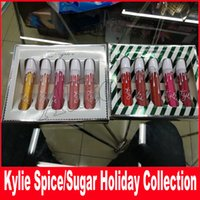 Wholesale Spices Set - new makeup kylie jenner holiday sugar lip set spice lip set matte & velvet liquid Lipstick kylie collection