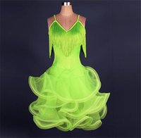 Wholesale Latin Ballroom Dresses For Sale - Adult Children Latin Dance Dresses For Sale Ballroom Dance Competition Dresses Performance Dancing Dress For Women Girls Latin FN028