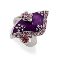 Wholesale Gemstone Cluster Rings Wholesale - 2015 New Mix Color 18K silver Gold Rings with Crystal Gemstone Jewelry Finger Rings For Women 12Pcs Lot Enamel RINGS Rhinestone Rings