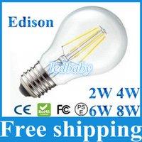 bombillas antiguas de edison al por mayor-8W 6W 4W 2W Led lámpara de luz de filamento E27 Led bombillas luz 360 grados cálido / frío blanco antiguo Retro Edison llevó la lámpara AC85-265V