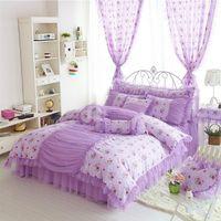 Wholesale Princess Kids Beds - Luxury Korean Style Bedding Set for girls bedding Crib Bedding Nursery Bedding Kids Bedding Princess Bedding Set Christmas Gift