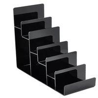 handy-display regal großhandel-Verstärkung Klar Schwarz Multi Layer Acryl Regal Geldbörse Display Stand Handy Shell Rack Handtasche Halter