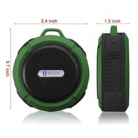 Wholesale Passive Speakers - C6 bluetooth speaker mini outdoor portable speakers passive radiator rich immersive sound 5 hours long time play time built-in hook