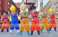 Wholesale Giant Figure - DragonBall Z 43cm Giant Goku BIG Figure Super saiyan vegeta Super messiah who hands do super huge large movable doll doll model