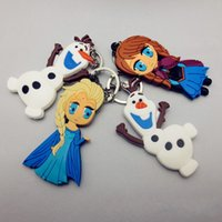 Wholesale Toys For Two Women - Cartoon FROZEN Keychain Olaf Keychain PVC Two different styles Trendy toy for children nice present Promotion Gift