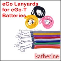 Wholesale Ego T Necklaces - E Cigarette Lanyards eGo Necklace String Ring Accessories for E Cig for eGo-T eGo Q W C eGo-F Battery Great Quality Various Color Instock