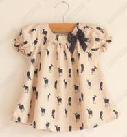 Wholesale Deer Bow Shirt Girls - The cheapest ! !9pcs lot EMS The cheapest ! ! Baby Shirt Deer Bow Cute Short-sleeved T-shirt