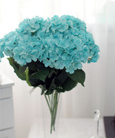 paint bush - Hydrangea Flower Bunch cm quot Length Artificial Silk Flowers Simulation Irish Painting Large Hydrangea Seven Flower Heads per Bush