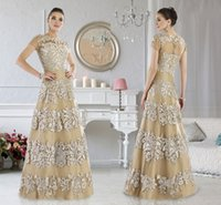 Wholesale Mothers Dresses For Weddings Short - 2016 Cheap Mother Of The Bride Dresses For Wedding Janique Lace Applique Evening Dresses Spring Short Sleeves Beach Mothers Formal Gowns