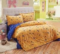 Wholesale pure satin sheets - Wholesale-UNIHOME Classic active staining 4pcs pure cotton satin bedding set  comforter set  duvet cover set  bed sheet