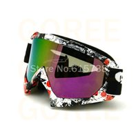 Wholesale Ski Helmet Glasses - Wholesale-Motocross helmet goggles ski goggles wind and dust goggles glasses Wind mirror gafas