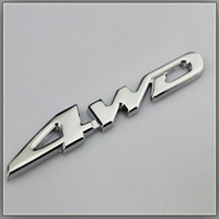 Carro 3D Car metal cromado 4WD V6 Cilindrada do emblema do emblema All Wheel Drive Auto Etiqueta Logo Car Styling Decoração