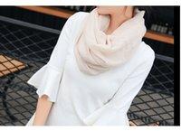 ingrosso sciarpe multiuso-Sciarpa lunga da donna di alta qualità Scialle in puro lino Sciarpa di conservazione del calore a doppio scopo Fondo lungo circa 180 cm