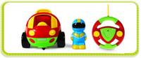 control remoto de coche de bebé al por mayor-Nuevo Auténtico Control de Dibujos Animados para Niños Coche de Carreras Coche Hellokitty Doraemon Bebé Juguetes Música Automotriz Radio Control Rc Coche