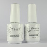 Wholesale Gel Polish Gelexus - Wholesale-Free Shipping 2Pcs lot New Gelexus Soak Off UV Nail Gel Polish 1Pc Base Gel and 1Pc Top Coat