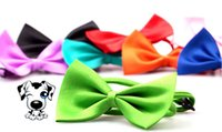 Wholesale Blue Dog Collars - Dog Pet Bowties Genteel Bowknot Handsome Dog Neck Tie Cat Ties Collars Pet Grooming Supplies Free Shipping
