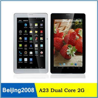 Wholesale Phone Tablets 8gb - 7inch 2G phone call Tablet Allwinner A23 Dual Core Capacitive Screen Android 4.2 512M 8GB Dual Camera WIFI Bluetooth phablet 002364