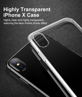 Wholesale clear covers - iBaby888 for iPhone X Soft Back Cover Case 0.3mm Crystal Clear Silicone Transparent TPU Case for iPhone 8 Plus 7 6s 6 Galaxy S9+ S8+ Note8