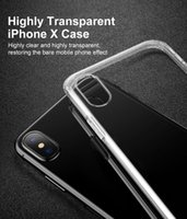 Wholesale iphone 6s crystal clear case online - iBaby888 for iPhone XS Max XR Note9 S9 Crystal Clear Soft Silicone Transparent TPU Case Cover for iPhone X Plus HUAWEI P20 Mate Pro