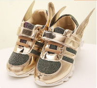Wholesale Retail Hot Children Shoes - Children Fashion Sneakers Shoes For 2017 Autumn New Hot Sale Wings Students Boys Girls Casual Sport Shoes 3-9Year Kids Retail TR181