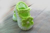 Wholesale white crochet shoes for sale - Group buy Crochet baby girl shoes crochet baby shoes white light green M custom