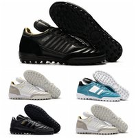 Wholesale Team Boots New - New Mundial Team Modern Craft Astro TF Turf Soccer Shoes Football Boots Cheap Soccer Boots Mens Soccer Cleats For Men 2017 Black White