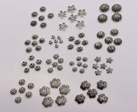 Wholesale bead cap jewelry - Hot ! 300pcs Antique silver Alloy 14- Style Flower Bead Cap Jewelry Accessories (mm30)