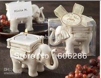 Wholesale Tea Set For Wedding Gift - Lucky Elephant Tea Light Candle Holder for Wedding Gift Party Decorations Setting the best choice Wedding Supplies 20pcs Wholesale