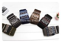 Wholesale Designer Gloves - Wholesale-Wholesale winter warm custom designer men gloves knitted acrylic mittens six colors selection
