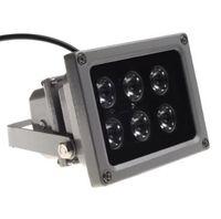 ir lamba cctv toptan satış-CCTV Array IR aydınlatıcı kızılötesi lamba 6 adet Dizi için Led IR Açık Su Geçirmez Gece Görüş CCTV Kamera