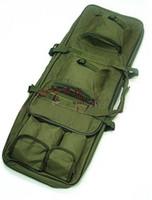 Wholesale Rifle Sniper Case Gun Bag - 100cm 1M 40 inch Dual Tactical Carrying Case Bags for ourdoor Sport Gun AEG Rifle Sniper Army green