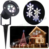 Wholesale G Light Led Wall - Waterproof Snowflake laser light led projector R G B W snowflake Landscape lamp for wall Christmas Holloween decoration romatic MYY