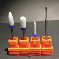Wholesale Under Nail Cleaner - Wholesale-Nails Drills Set - Flame bit & Smooth Top Bit & Under Nail Clean & Cuticle Clean Bit