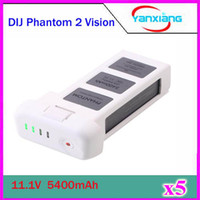 Wholesale 5pcs New mAh Lipo Battery V with Vlotage Display for DJI Phantom Phantom Vision Phantom Vision Quadcopter ZY DJI