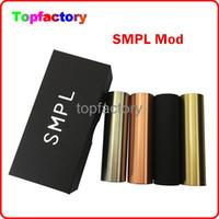 Wholesale Mod Compartment - 18650 SMPL Mod Full Machanical Mods Red Copper SMPL Mod for e Cigarette Battey Compartment Clone SMPL Mods Fit RDA Atomzier Kayfun lite Free