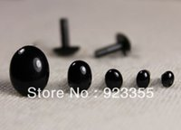 Wholesale Mixed Accessories - Wholesale-Free ship!! 200pcs lot Mixed Size 3.5mm--10x8mm Black Color toy nose accessories Safety Eye Cat eye accessories