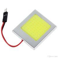 Wholesale Led Dome 48 - 8W T10 COB LED License Plate Dome Car Lamp with 48 Light Points CEC_465