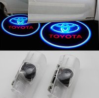 Wholesale Ghost Toyota - Toyota 7W Led Car Logo Door Light for Carolla Camry Reiz Sienna Prius Land Cruiser Projector Ghost Shadow Welcome Lights