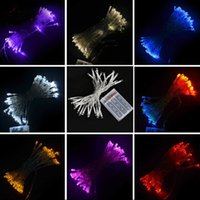 Wholesale Led Strip Pink 5m - 2015 fast ship Christmas lights 5M 50 led battery led string light 3pcs AA Battery Operated Fairy Party Wedding Christmas Flashing LED strip