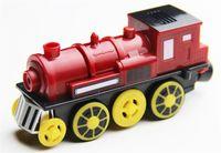 tren de madera magnético al por mayor-Batería magnética para locomotora eléctrica que emite el sonido y que funciona con batería para todos los juegos de trenes de madera para niños