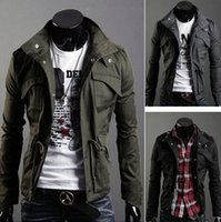 Wholesale Coat Army Fashion For Men - Spring and Autumn thin men jacket Korean jackets for men casual military jacket men's slim fit coats slim male overcoat jacket
