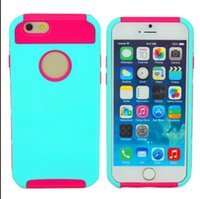 Wholesale Iphone Hard Matte Rubber - Hybrid Rubber Rugged Combo Matte Robot ShockProof Heavy Case Hard Cover For iPhone 5 6 4.7 4s Samsung s4 s5 Note 3