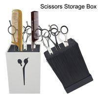 Wholesale Hair Ceramic Scissors - New Hair Scissors Storage Box Fashion Salon Professional Scissor Set Holder High Quality Free Shipping By Epacket