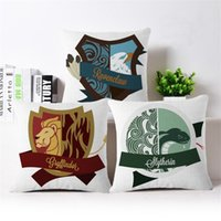 Harry Potter Throw Pillow Case Fodera per cuscino Square Fashion Style Decoracion per Natale Bar Home Restaurant Hotel 45 X 45 CM Lino