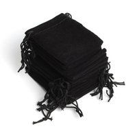 Wholesale velvet retail - Free Shipping 100pcs Lot 5*7cm Black Retail Jewelry Velvet Packaging Bags & Pouches,Wedding Chirstmas Party Gift Bag