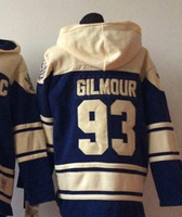 Wholesale Cheap New Hoodies - 2016 New, Cheap Stitched Ice Hockey Hoodie 93 Doug Gilmour Men's Ice Hockey Hoodie Jersey  Shirt